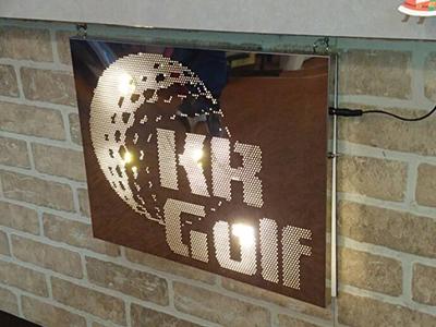 ゴルフ場カウンター看板